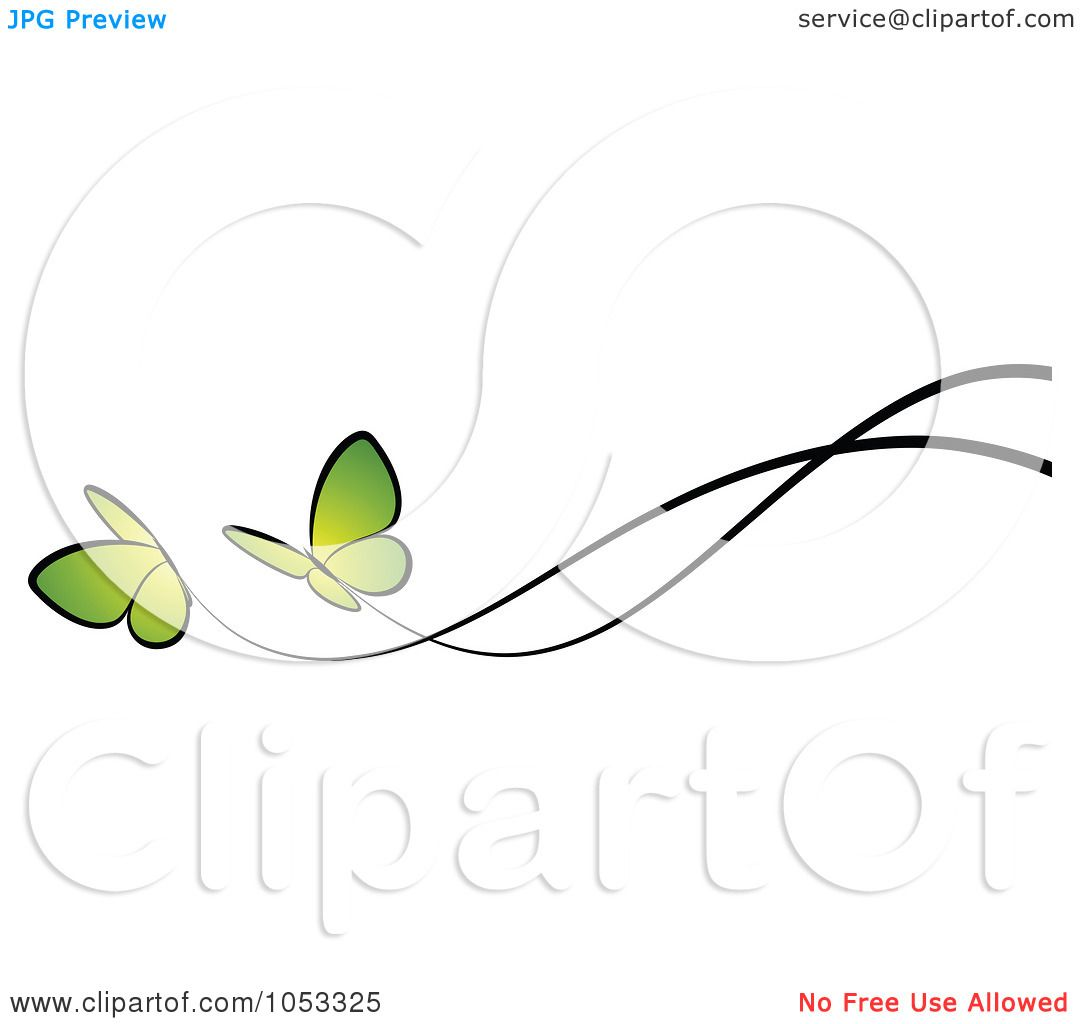 Royalty-Free Vector Clip Art Illustration of a Border Of Two Green ...