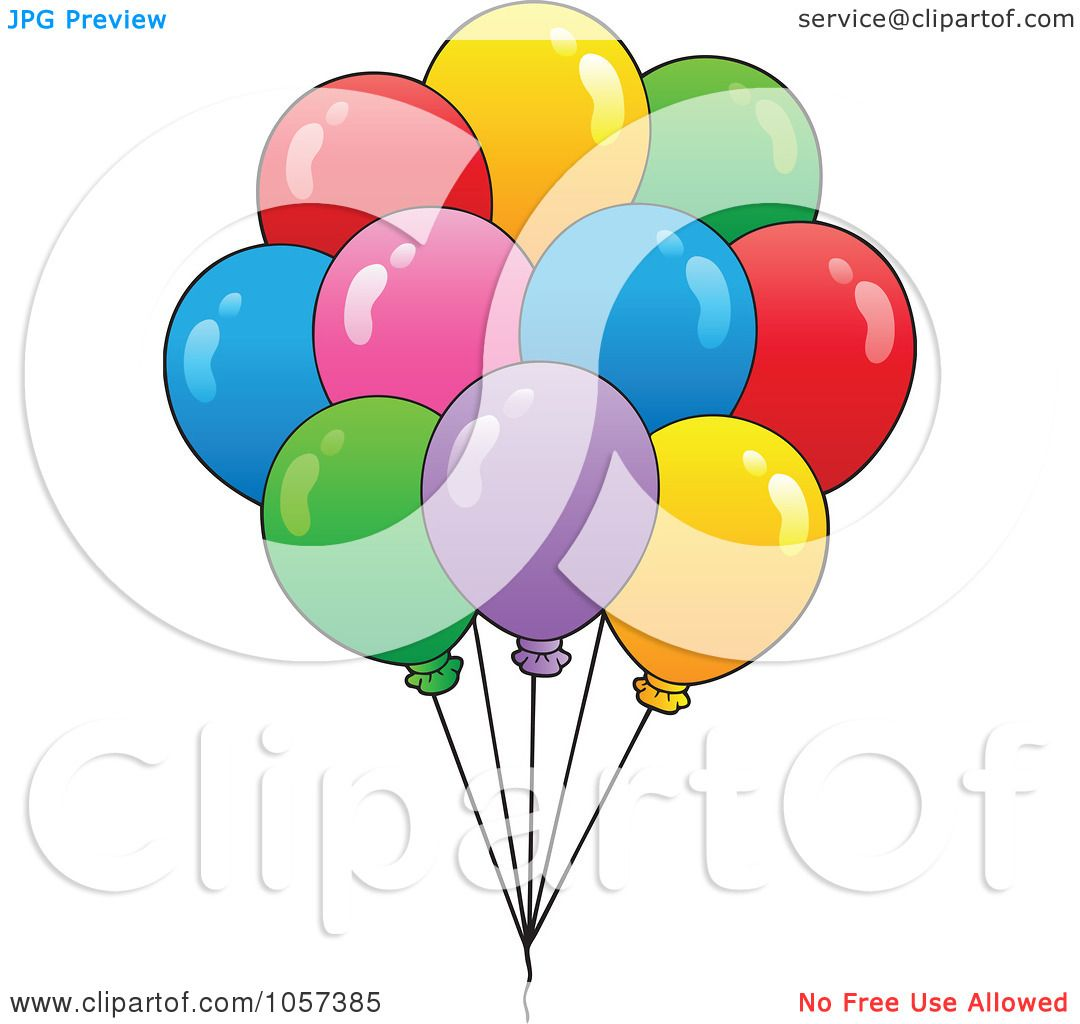 Royalty-Free Vector Clip Art Illustration of a Bunch Of Birthday ...