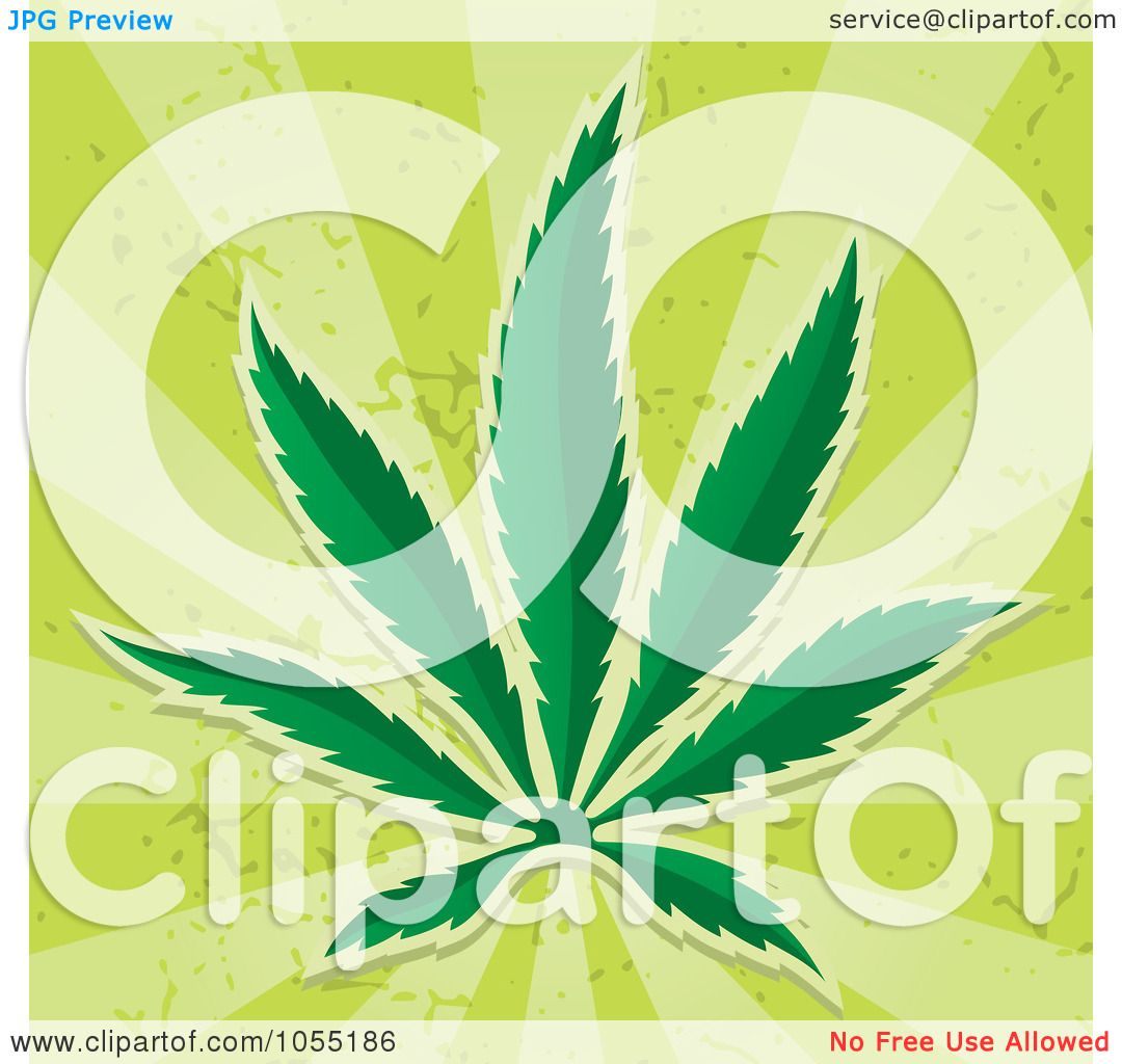Royalty-Free Vector Clip Art Illustration of a Cannabis Leaf On ...