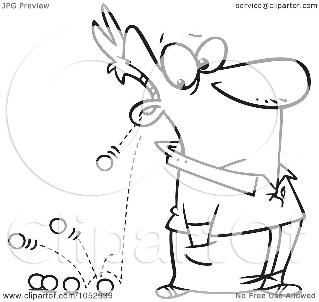 Royalty-Free Vector Clip Art Illustration of a Cartoon Black And ... for Marble Clipart Black And White  565ane