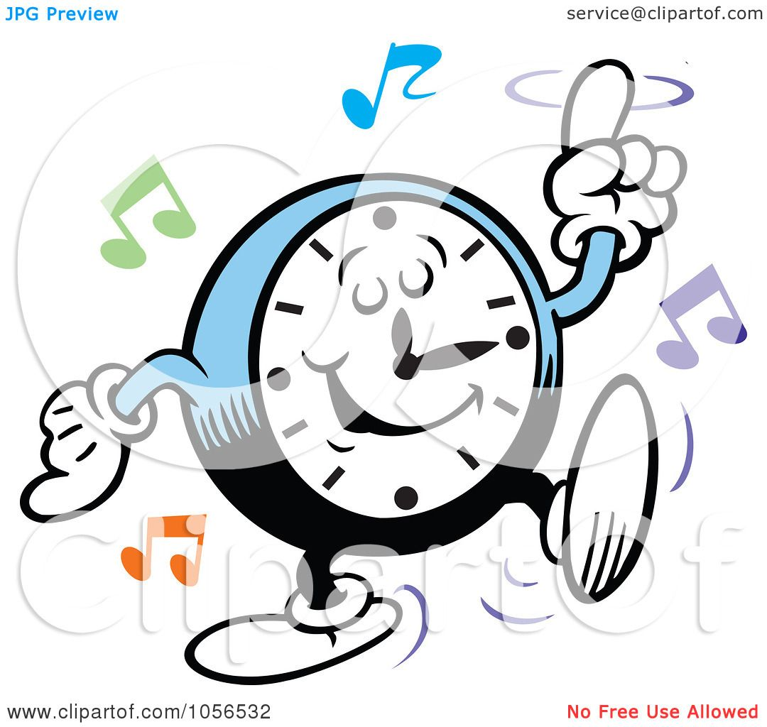 royalty free vector clip art illustration of a clock Someone Dancing stick figure dancing clipart