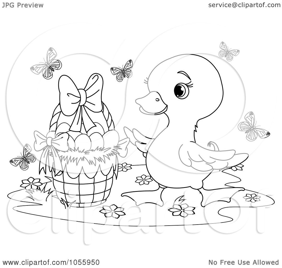 easter clip art coloring pages - photo #46