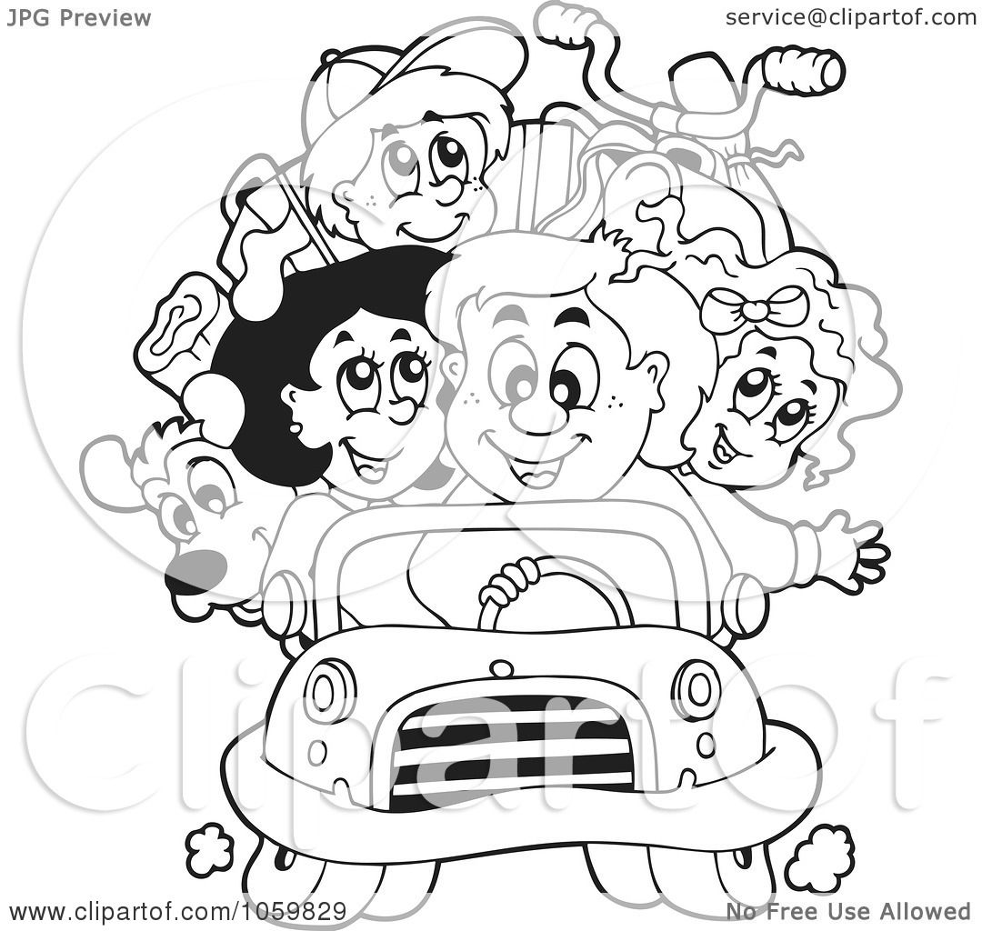 Road Trip Clipart Black And White Viewing Gallery