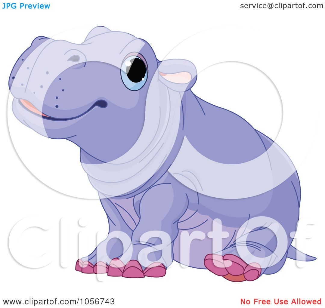 Hippo Art Images: Royalty-Free Vector Clip Art Illustration Of A Cute Baby