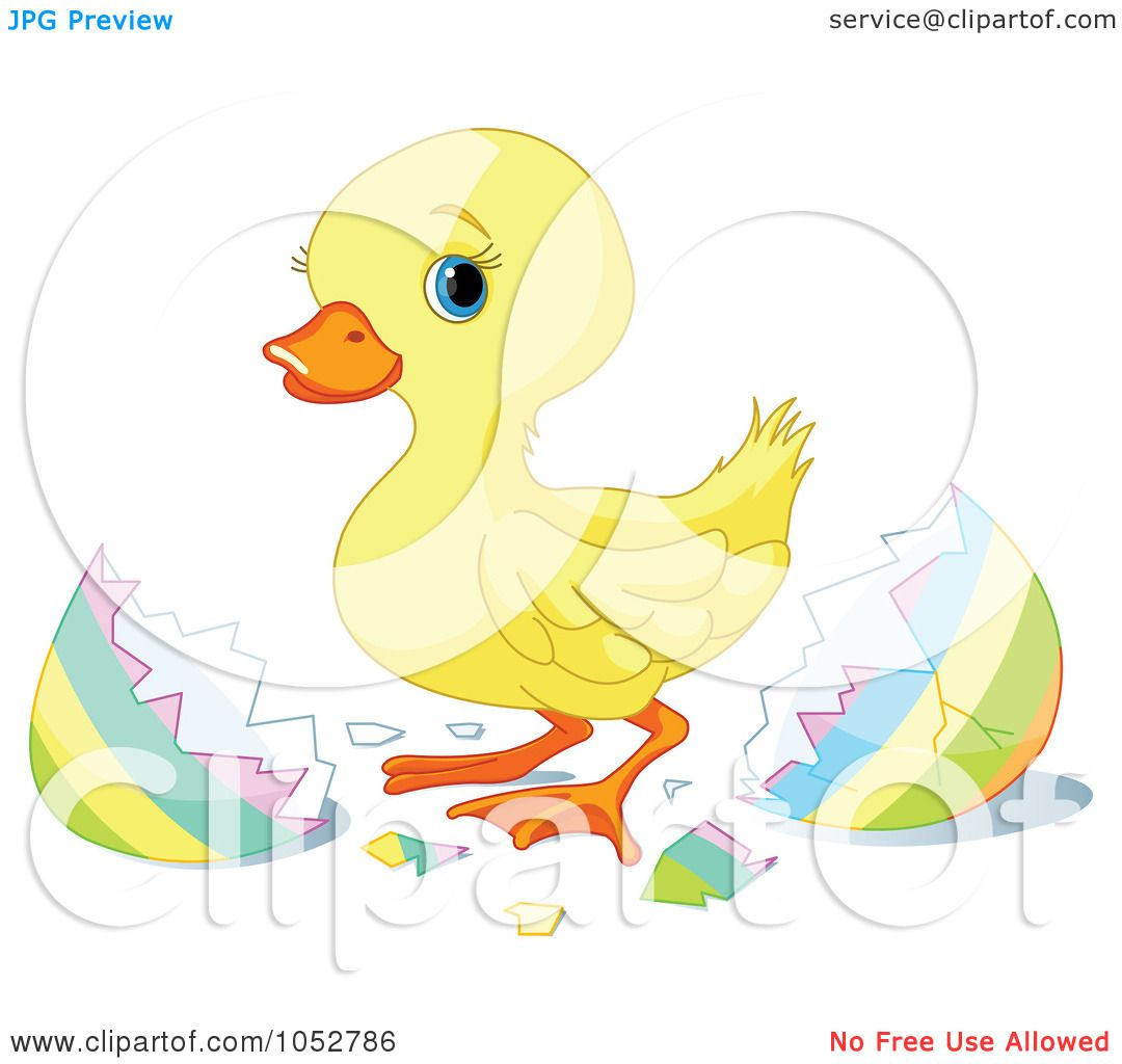 Cute Easter Clipart Of a cute easter duckling
