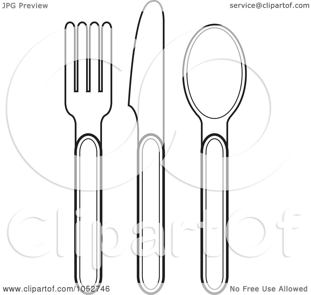 forks spoons coloring pages - photo#27