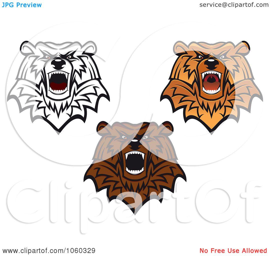 Bear logos clip art