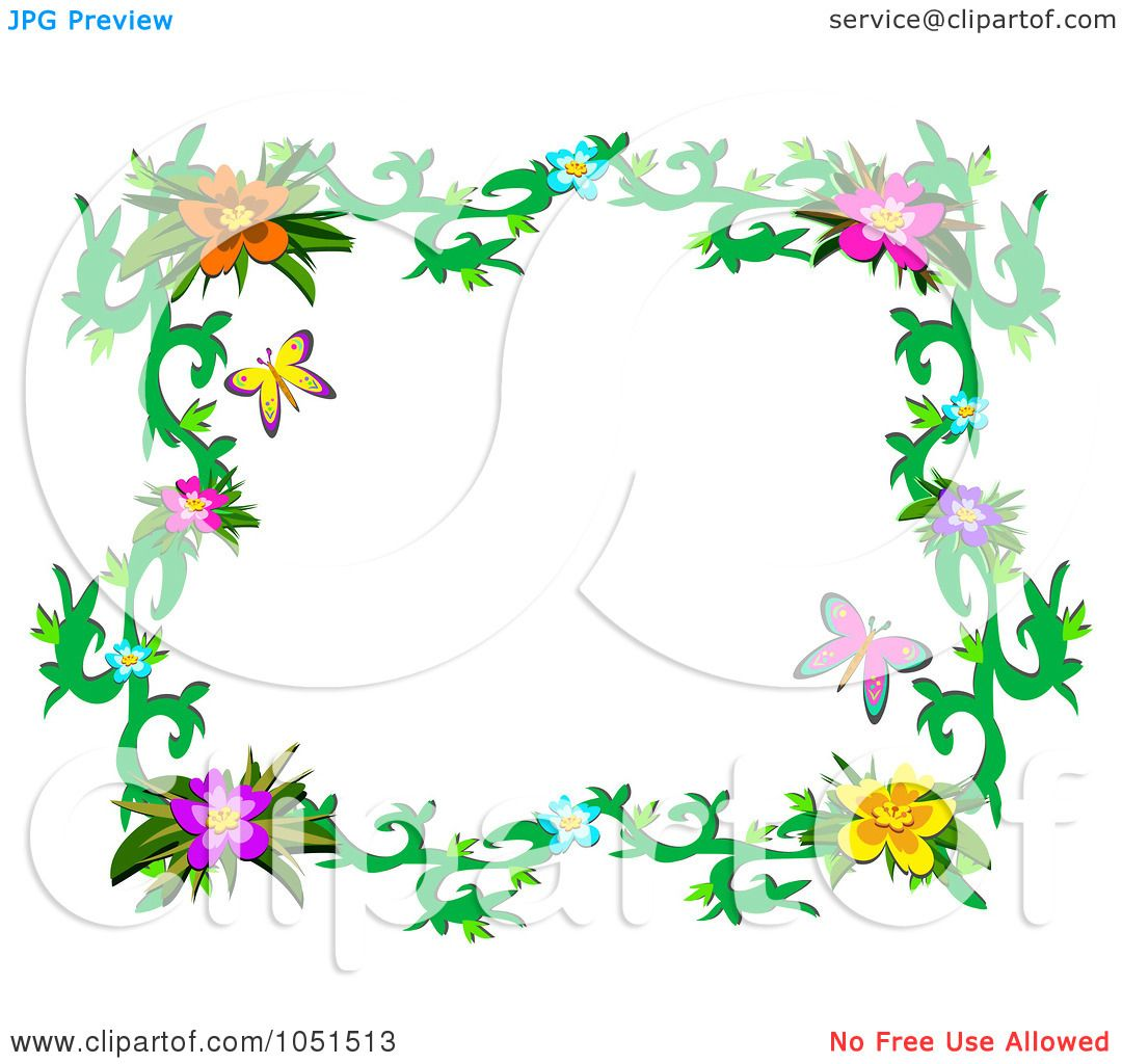 royalty free vector clip art illustration of a floral butterfly frame 3 by bpearth