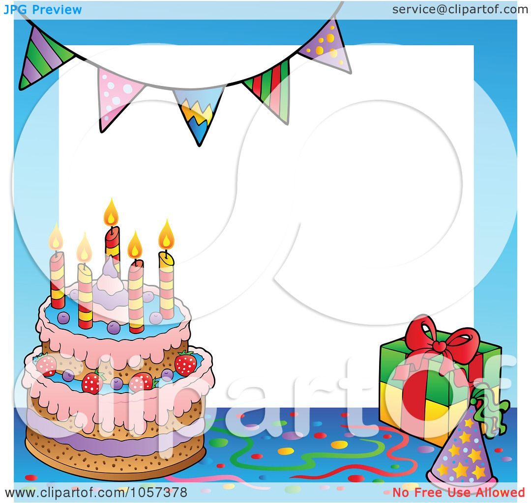 Photo Frame With Birthday Cake And Gifts | Amtframe org
