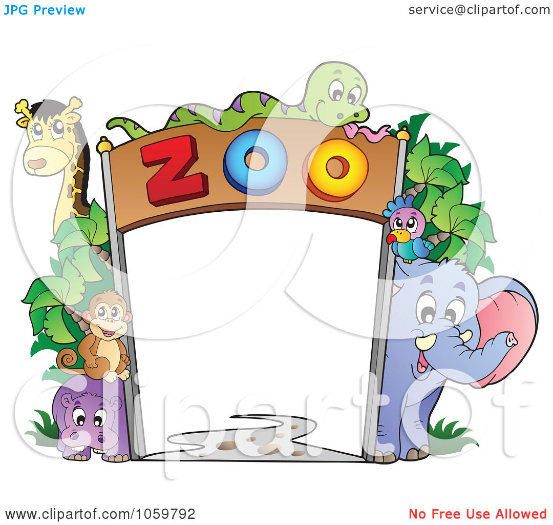 Suzy Zoo Clip Art http://www.clipartof.com/portfolio/visekart/illustration/frame-of-zoo-animals-1059792.html