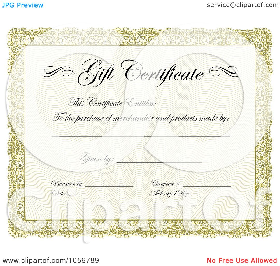 It's just a photo of Ambitious Gift Certificates Clipart