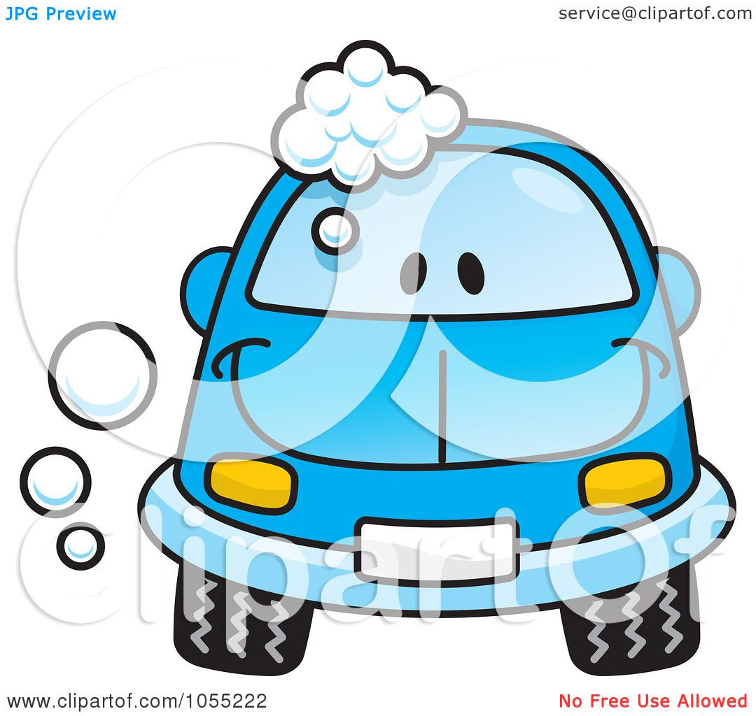 Royalty Free Vector Clip Art Illustration Of A Happy Blue