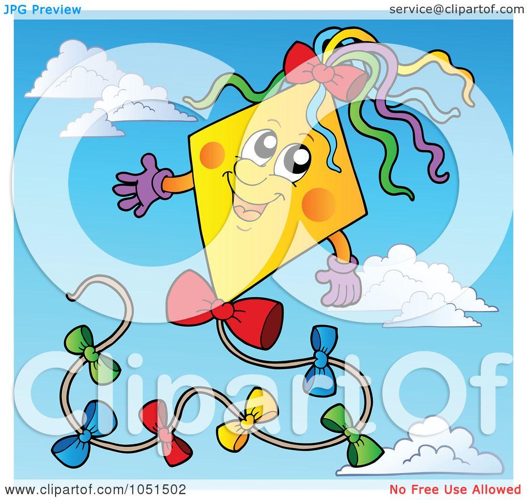 a Happy Kite in a Blue Sky