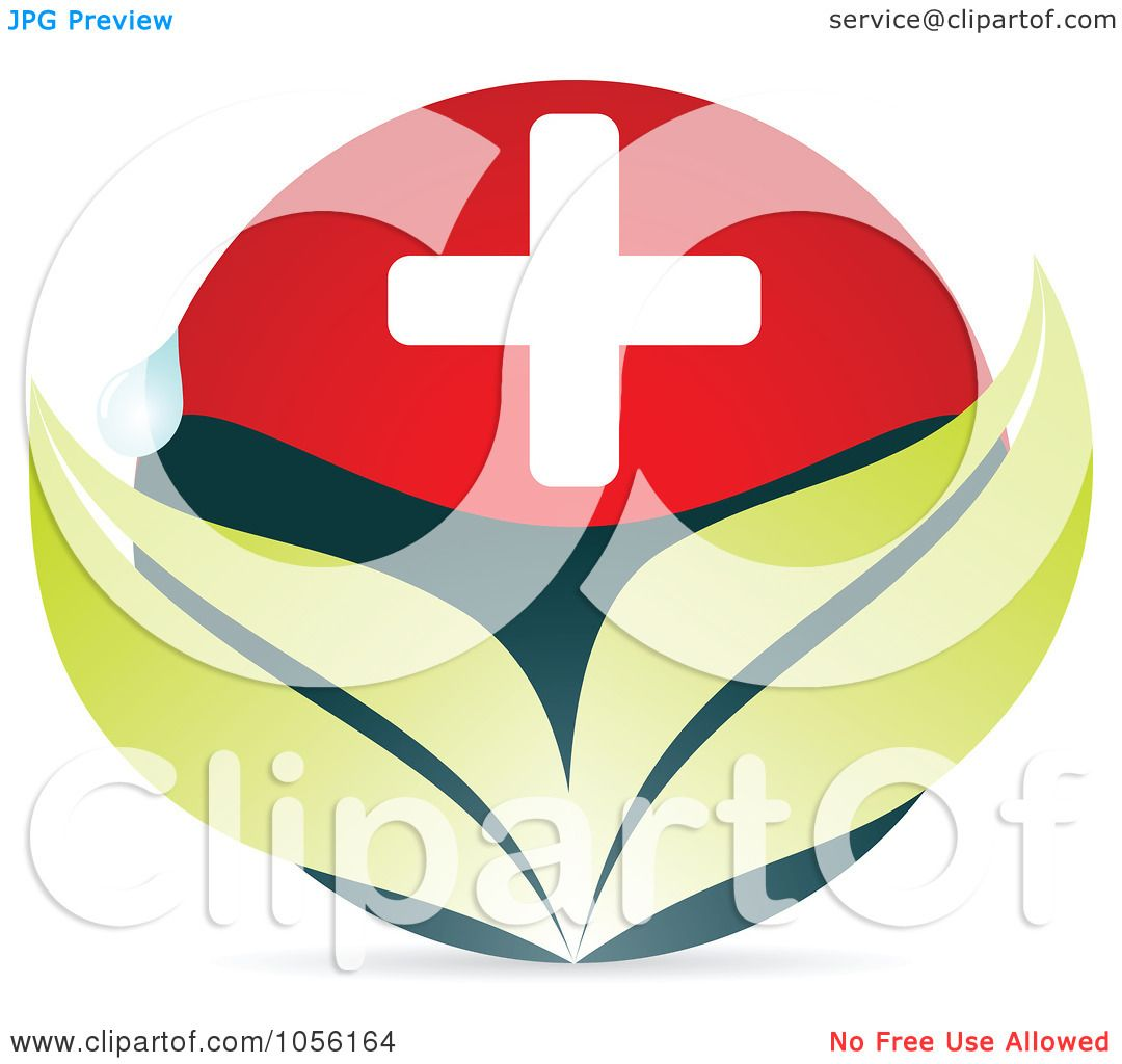 Royalty free vector clip art illustration of a medical cross with royalty free vector clip art illustration of a medical cross with leaves and a water drop by andrei marincas biocorpaavc Images
