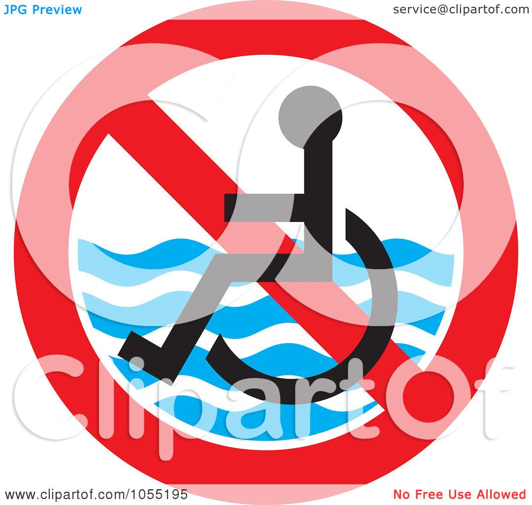 Royalty free vector clip art illustration of a no handicap for Free clipart no copyright