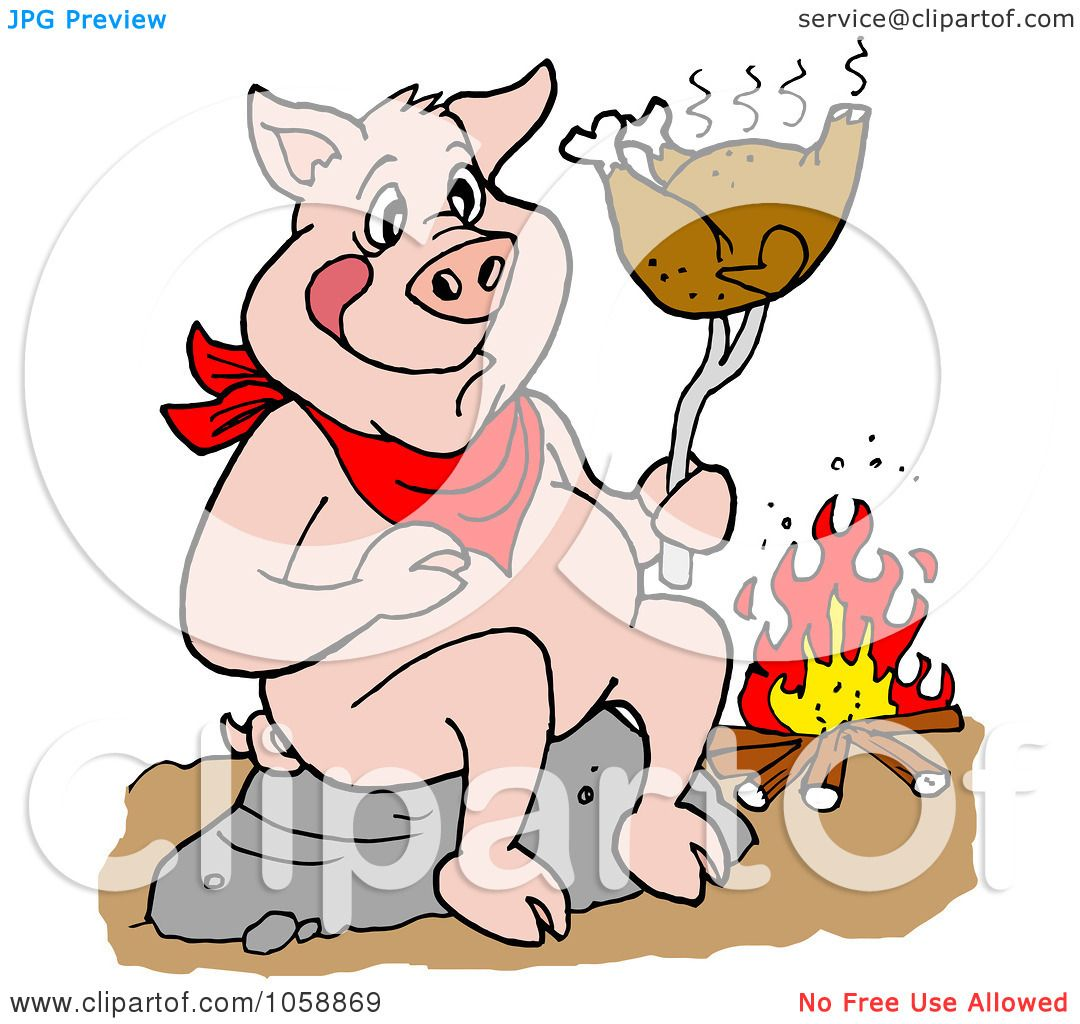 Royalty Free Vector Clip Art Illustration Of A Pig