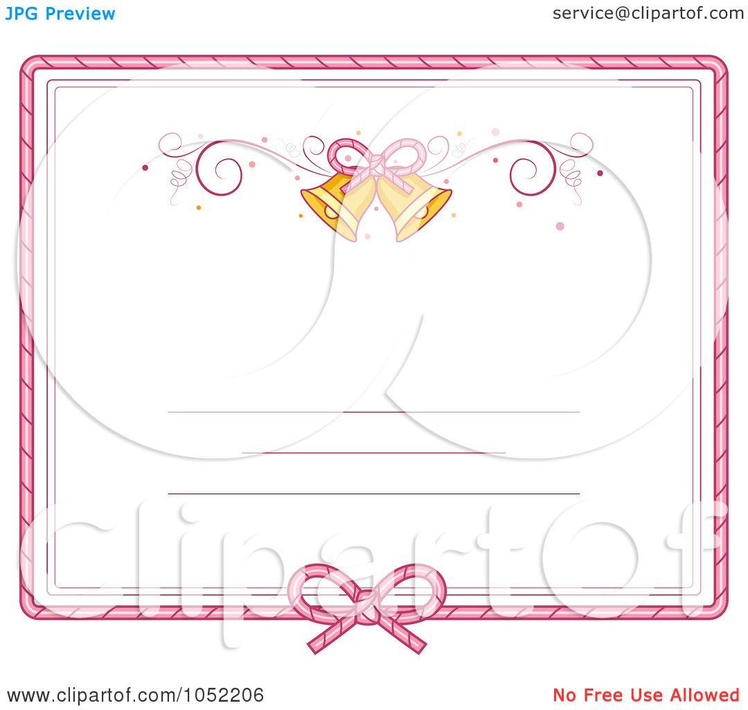 Wedding Invitation Borders Clip Art: Royalty-Free Vector Clip Art Illustration Of A Pink Border