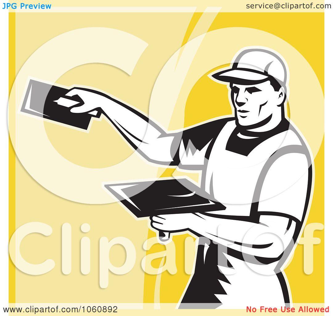 Royalty-Free Vector Clip Art Illustration of a Plasterer ...