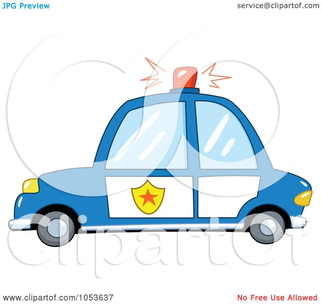 Royalty-Free Vector Clip Art Illustration of a Police Car by ...