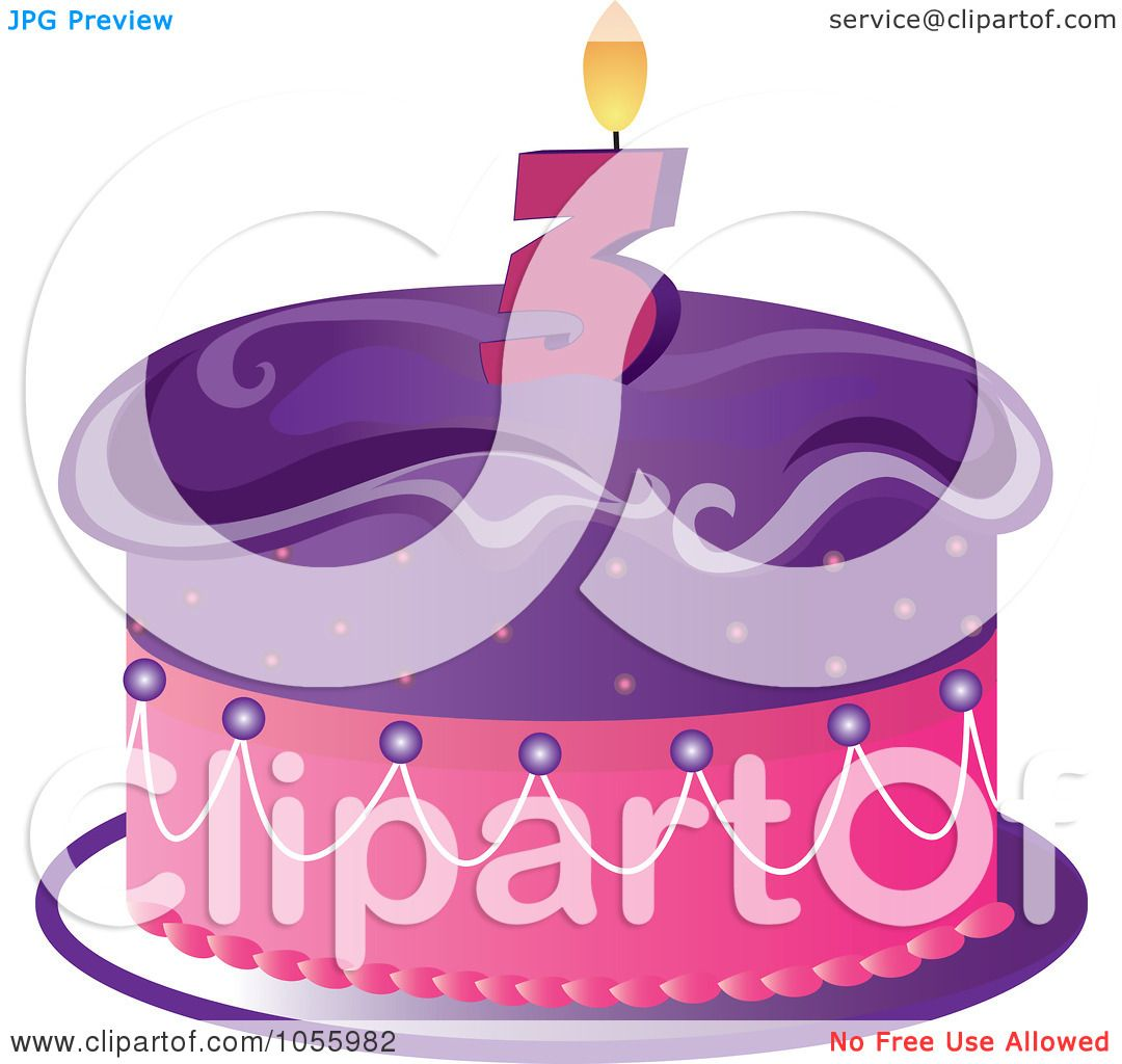 RoyaltyFree Vector Clip Art Illustration of a Purple And Pink