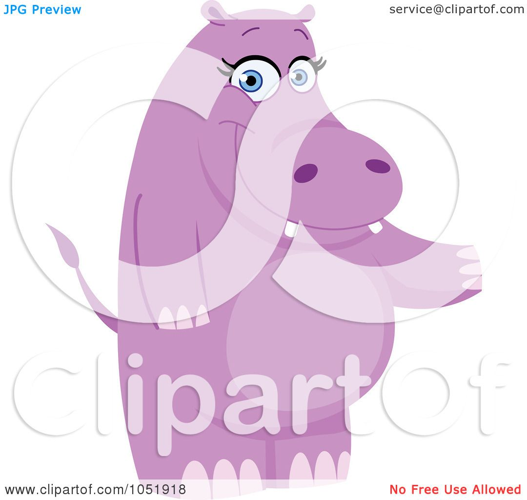 Hippo Art Images: Royalty-Free Vector Clip Art Illustration Of A Purple