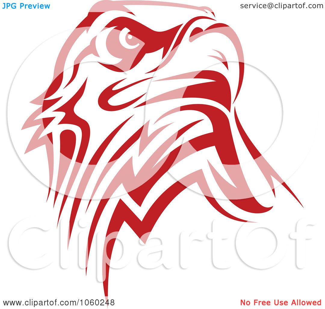 Royalty free vector clip art illustration of a red eagle for Logo clipart