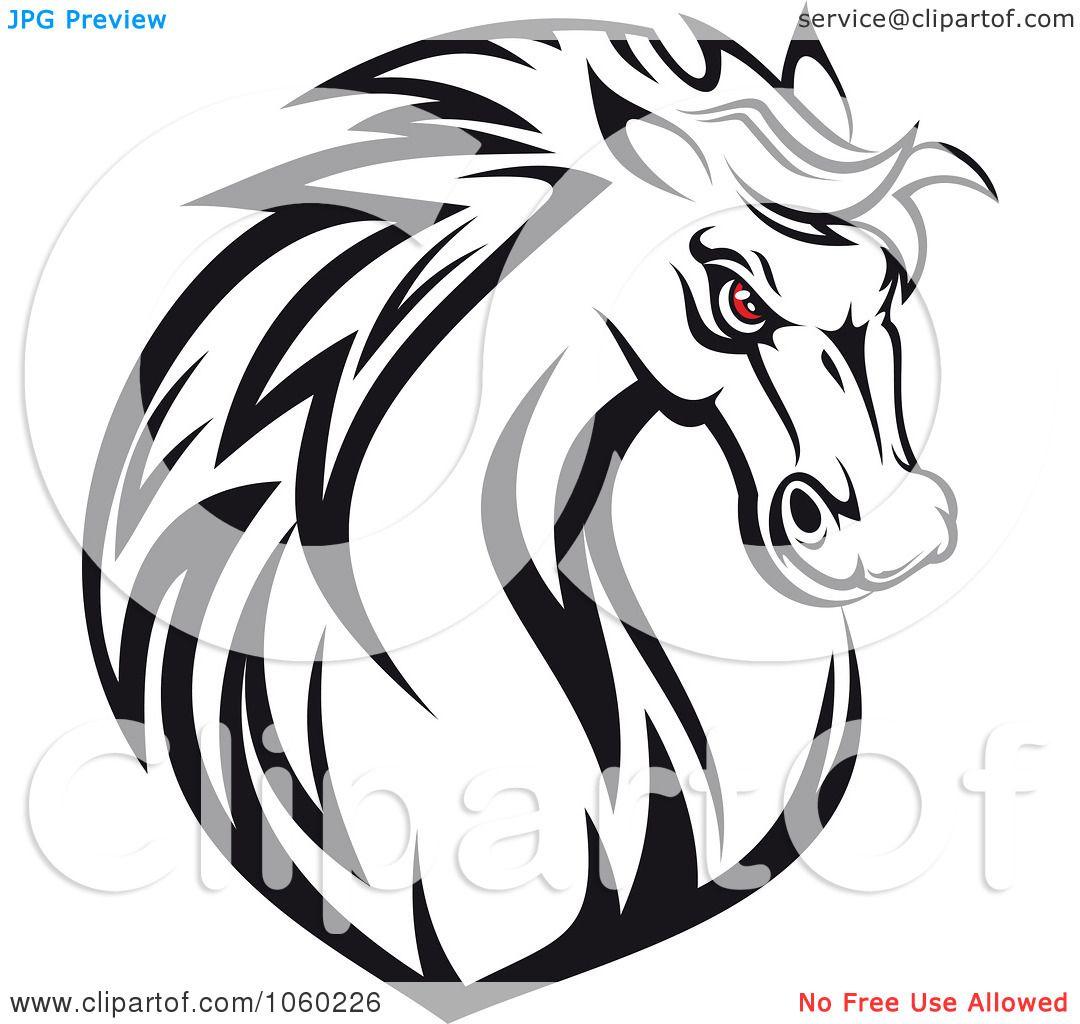Angry Horse Head Logo Eyed Horse Head Logo 1