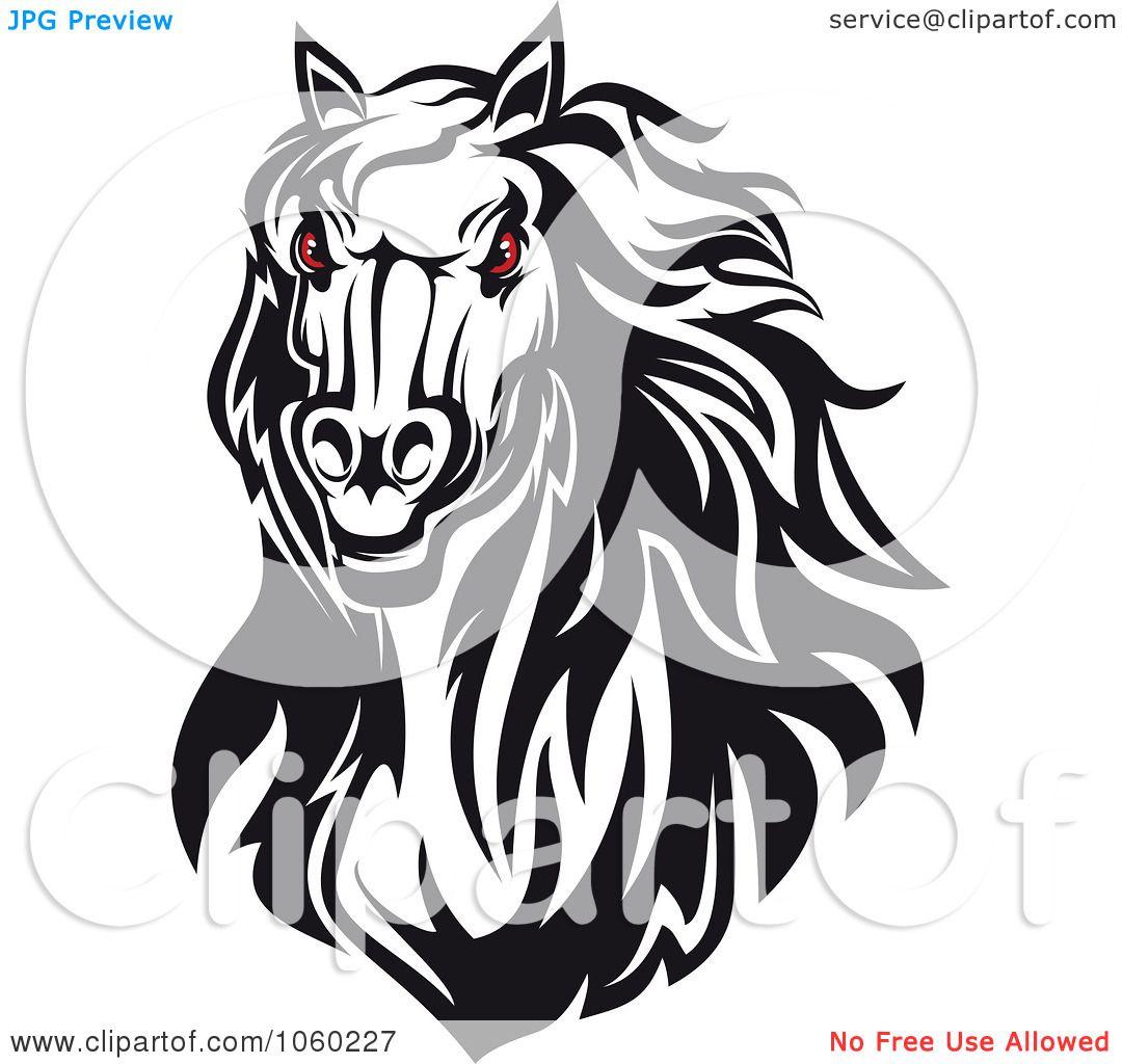 Angry Horse Head Logo Eyed Horse Head Logo 3