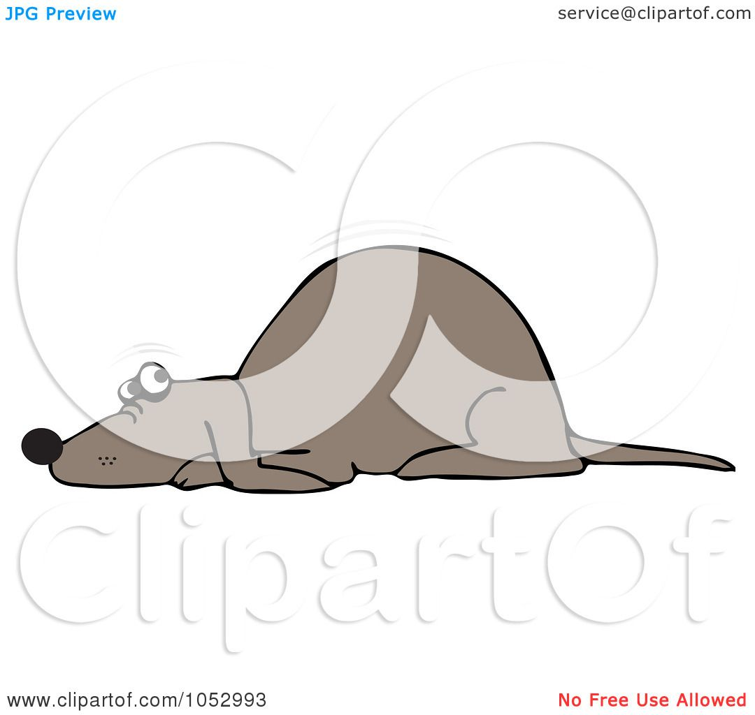 Royalty-Free Vector Clip Art Illustration of a Scared Dog Quivering by ...