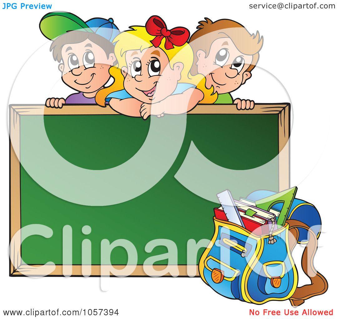 Royalty-Free Vector Clip Art Illustration of a School Children ...