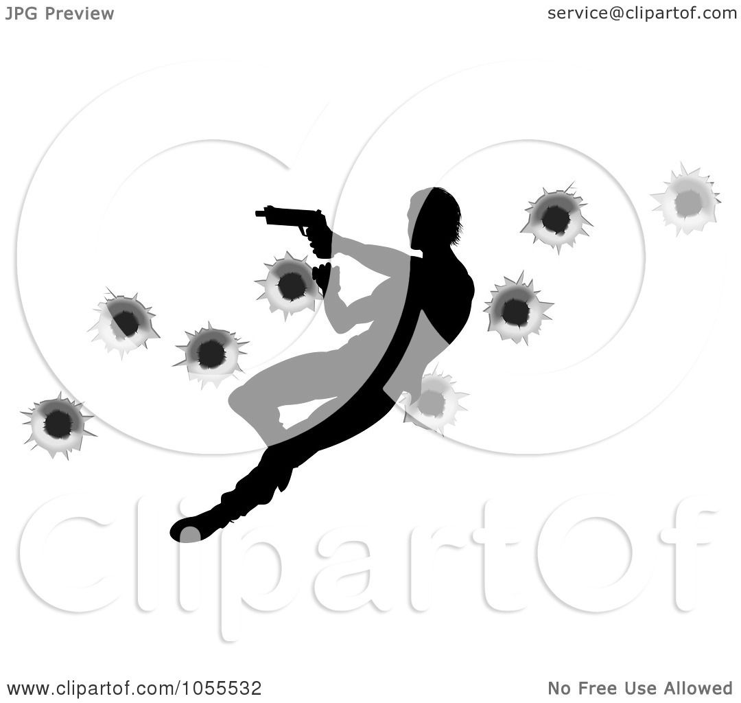 Royalty-Free Vector Clip Art Illustration of a Silhouetted Action ...