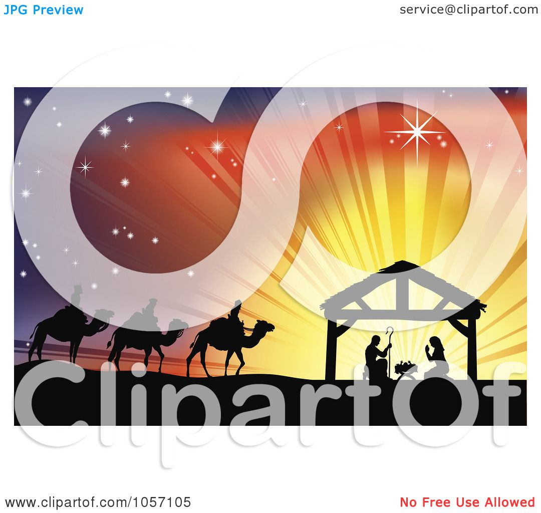Nativity Silhouette Clip Art Royalty-free vector clip art