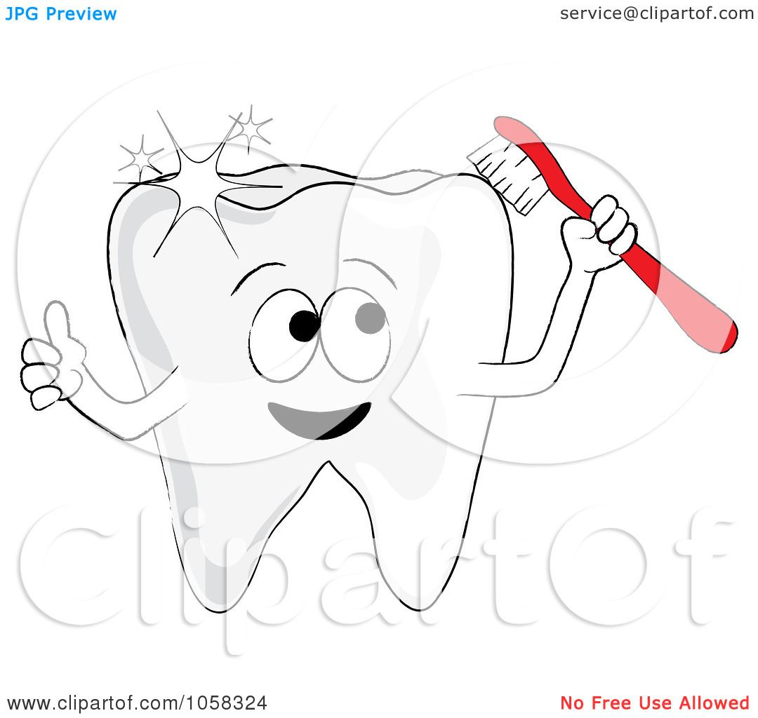 Sparkle Cartoon Character Sparkling Tooth Character