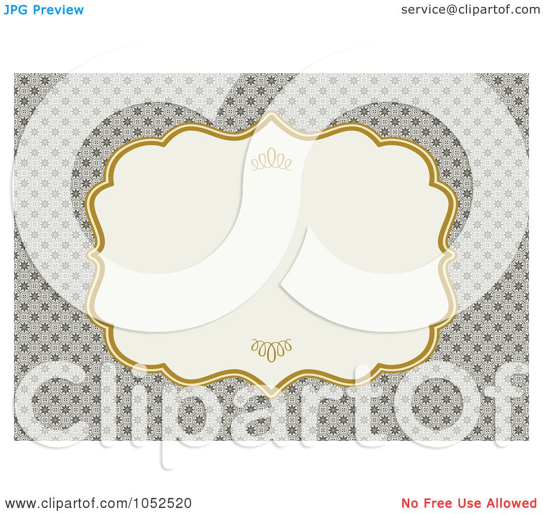 Royalty free vector clip art illustration of a tan floral invitation royalty free vector clip art illustration of a tan floral invitation background with a gold and beige text box by bestvector stopboris Gallery