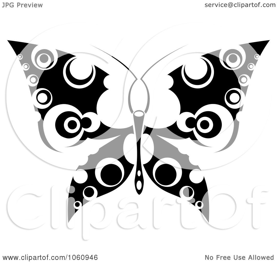 Tattoo Clipart Black And White: Royalty-Free Vector Clip Art Illustration Of A Unique