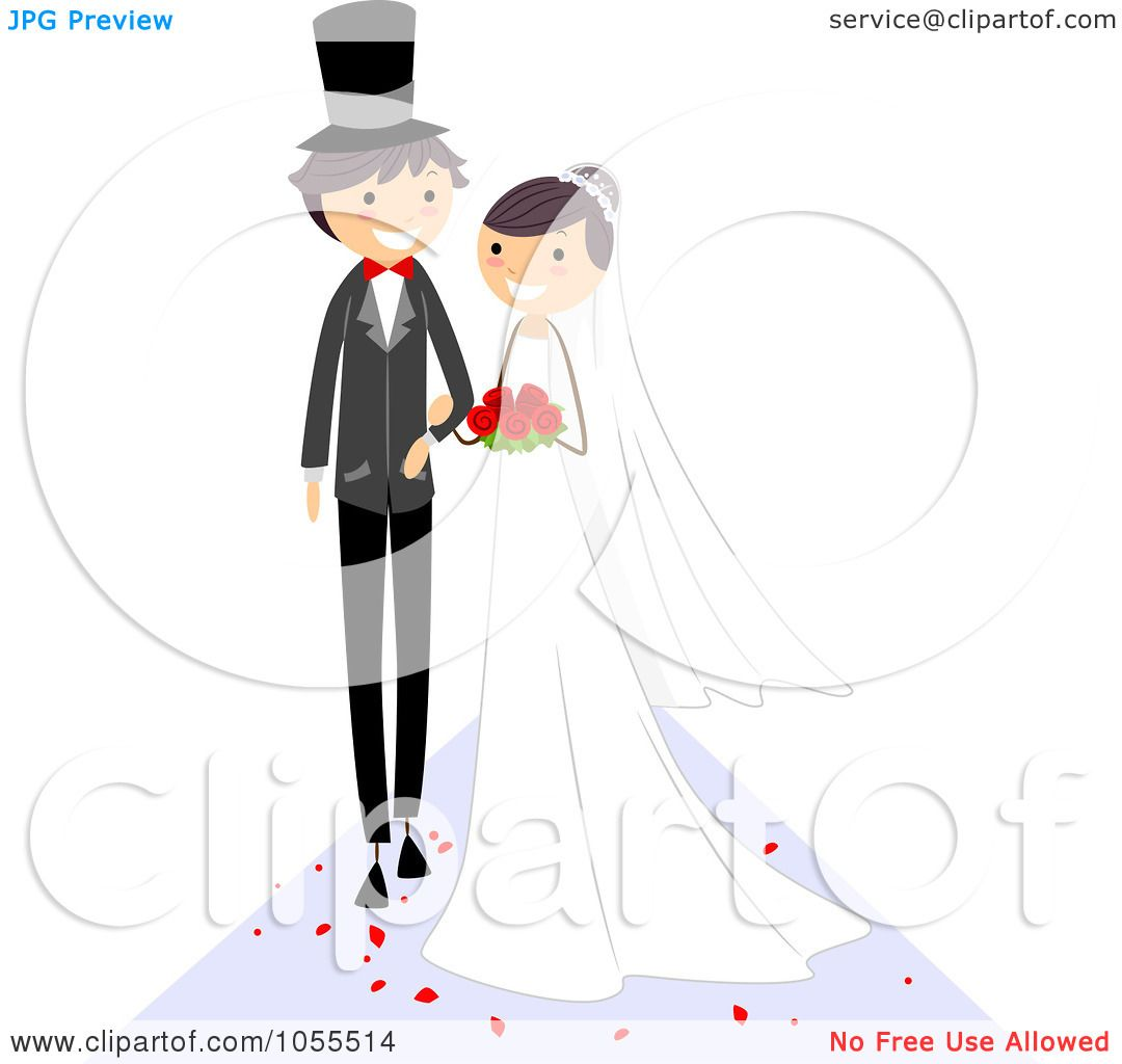 Royalty-Free Vector Clip Art Illustration Of A Wedding