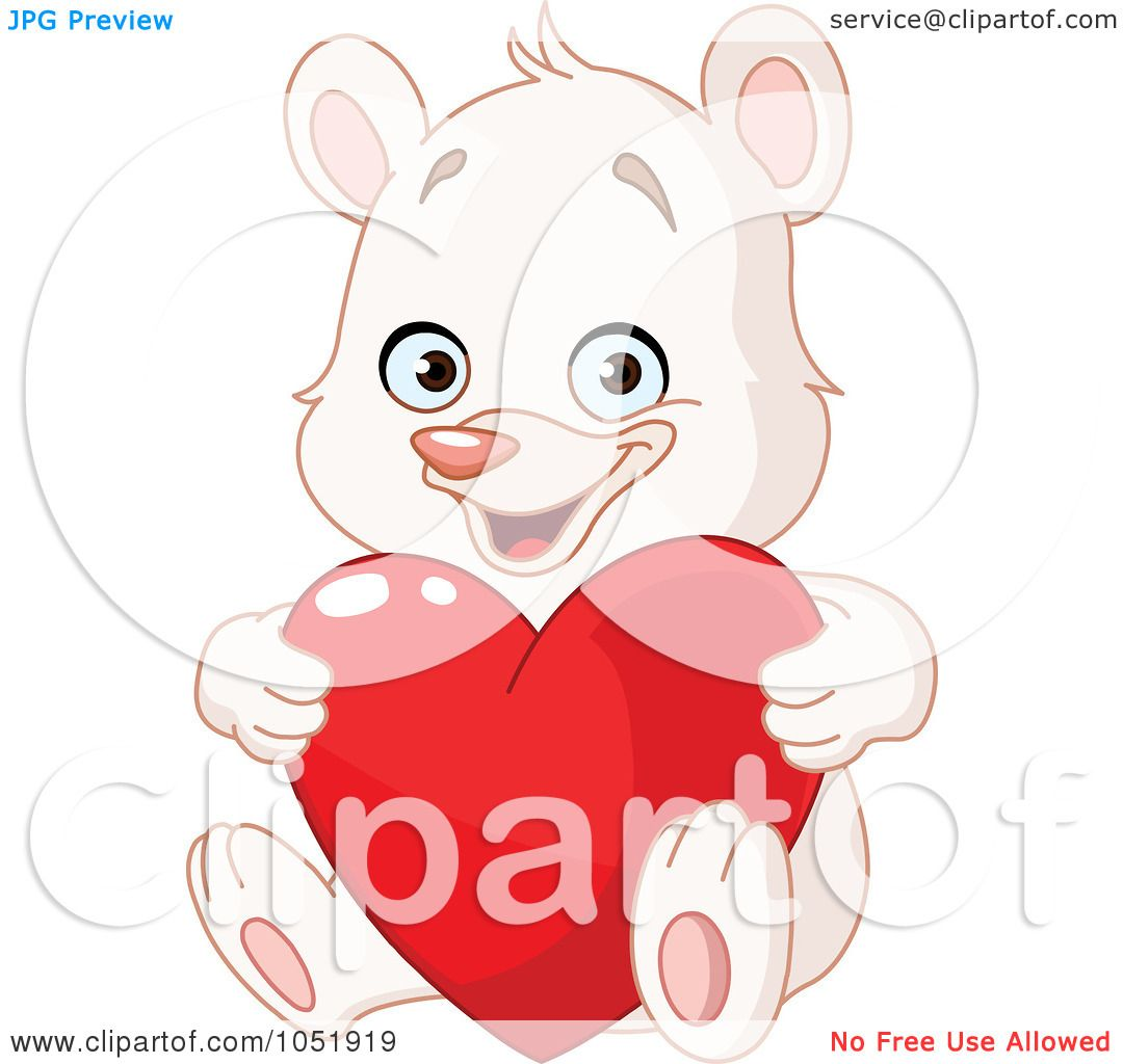 Royalty-Free Vector Clip Art Illustration of a White Teddy ...