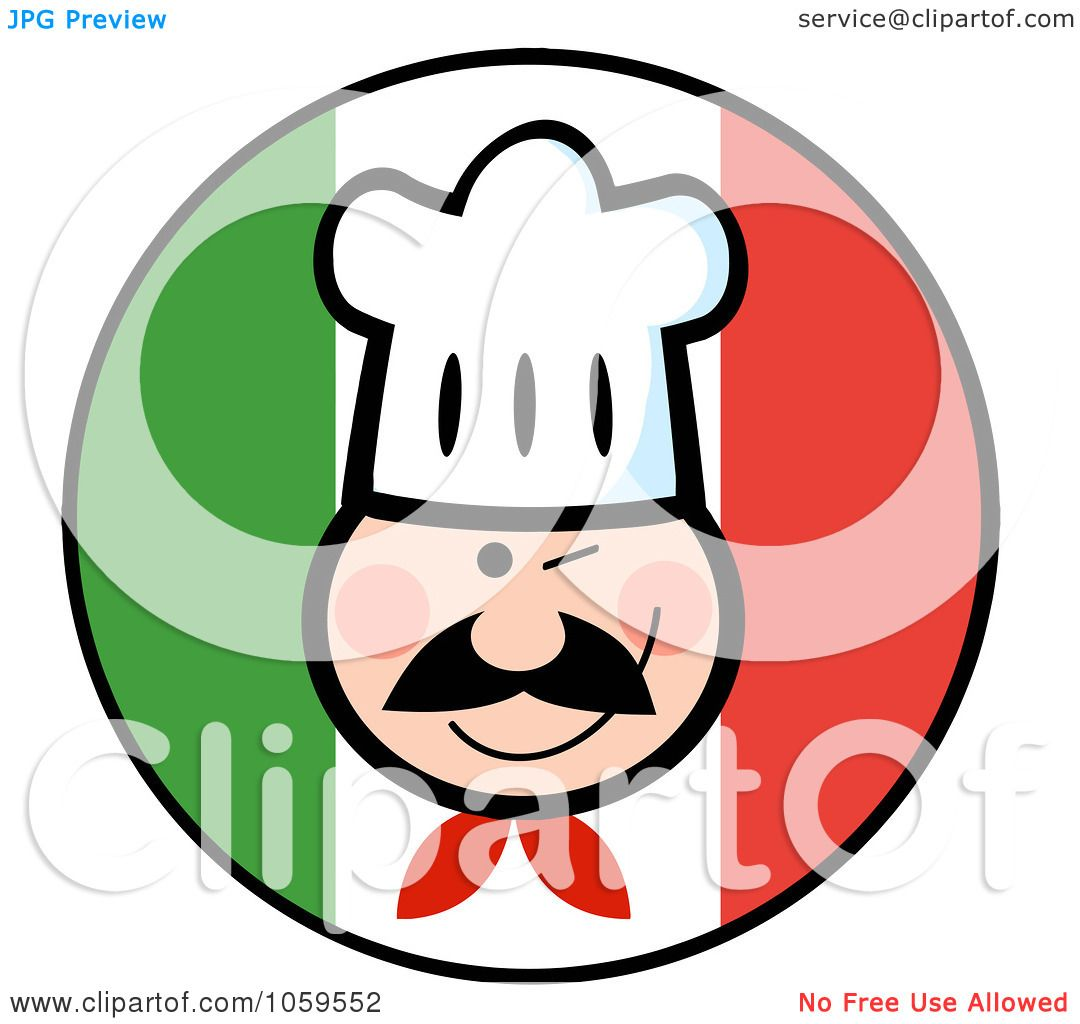 Royalty-Free Vector Clip Art Illustration of a Winking Chef Face ...