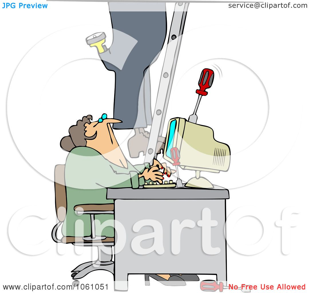 Royalty Free Vector Clip Art Illustration Of A Worker