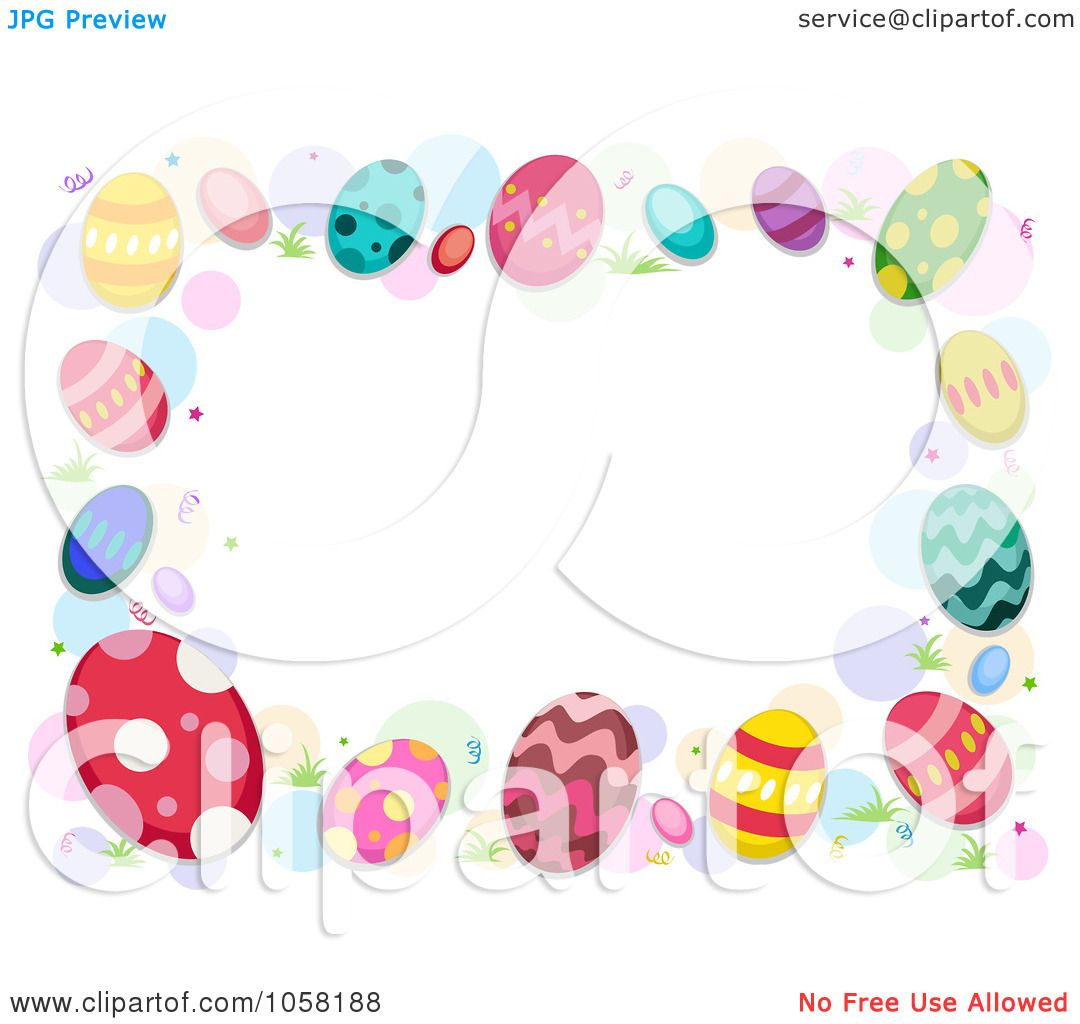 royalty free vector clip art illustration of an easter frame of