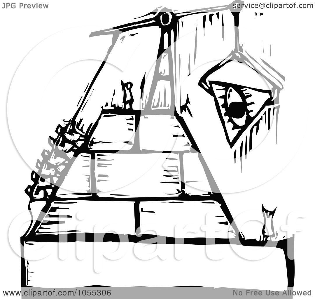 RoyaltyFree Vector Clip Art Illustration of Black And