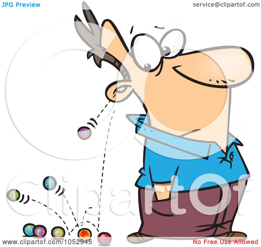 Royalty-Free Vector Clip Art Illustration of Cartoon Marbles Falling ...
