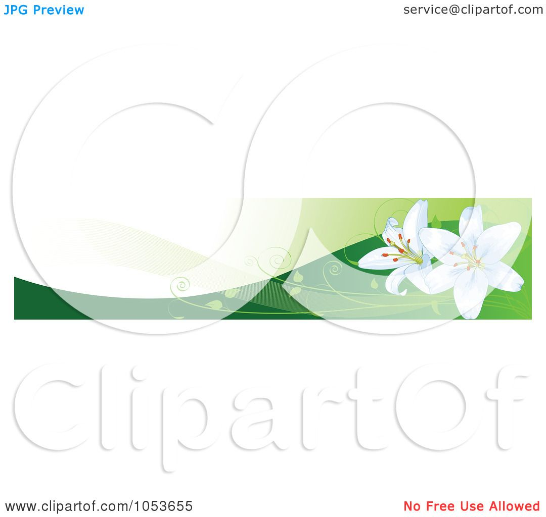Easter Banner Clipart - Floral delivery