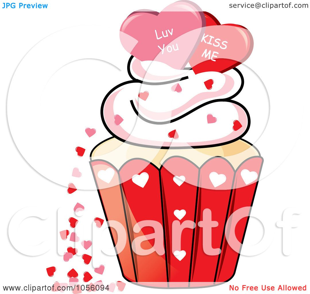 Royalty-Free Vector Clip Art Illustration of Love You And Kiss Me ...