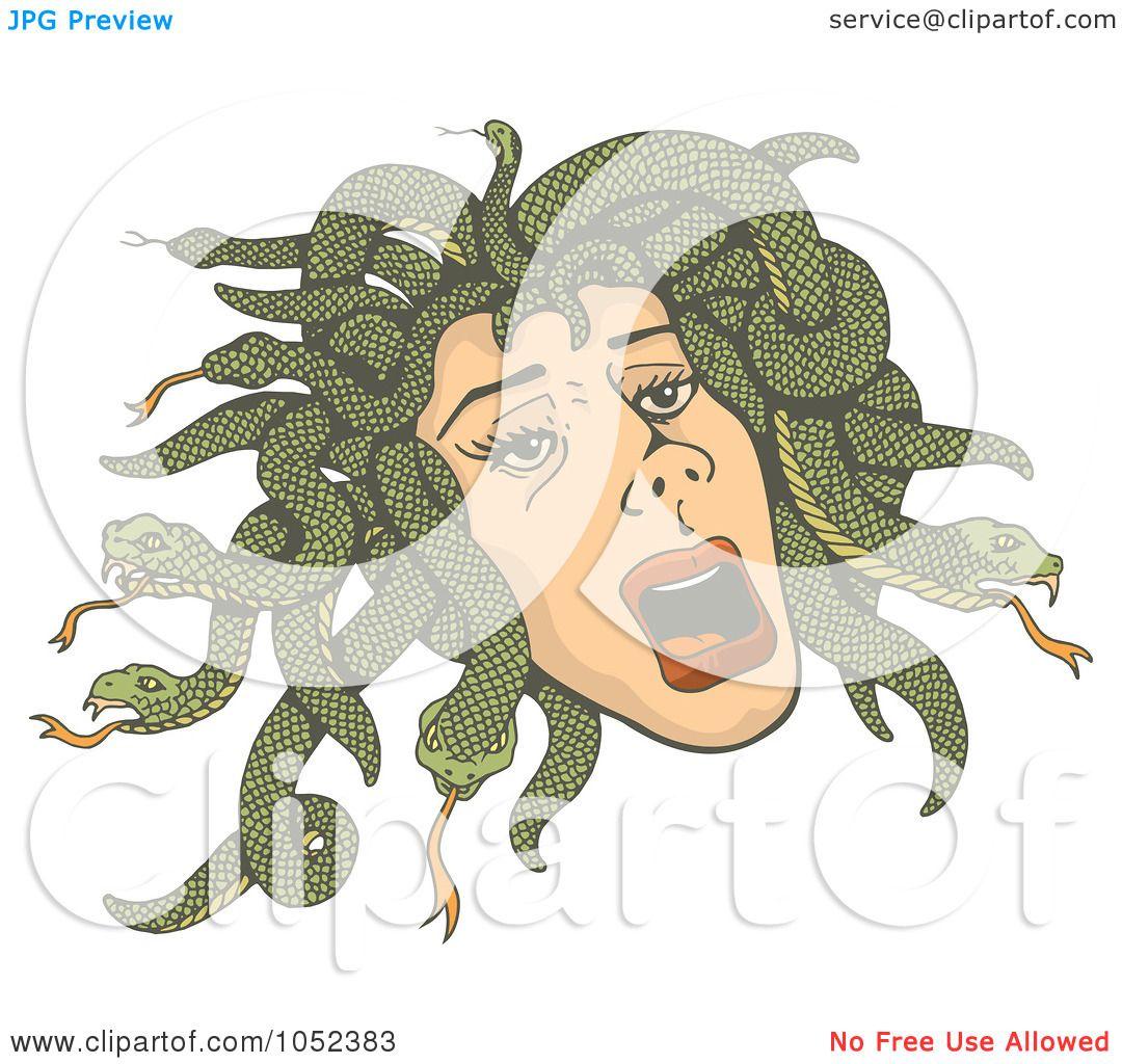 Royalty-Free Vector Clip Art Illustration of Medusa's Head With ...
