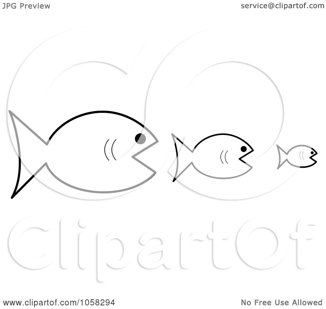 Royalty-Free Vector Clip Art Illustration of Three Outlined