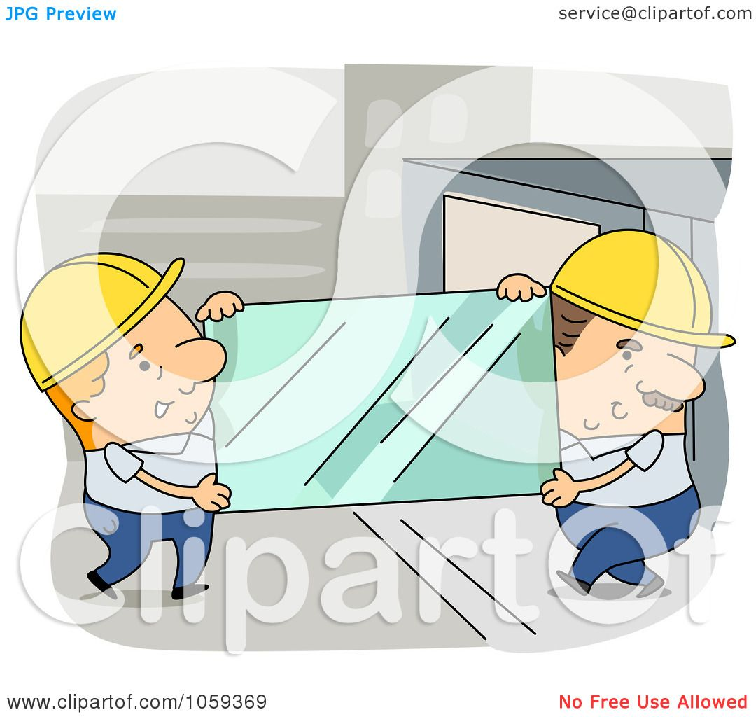 Royalty-Free Vector Clip Art Illustration Of Two Glaziers