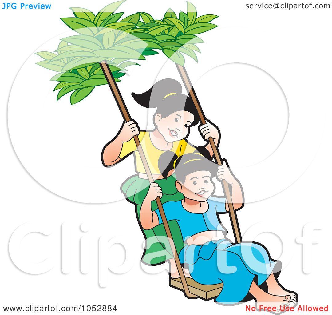 Illustration Of Sinhala Children With A Sri Lanka Flag By Lal Perera
