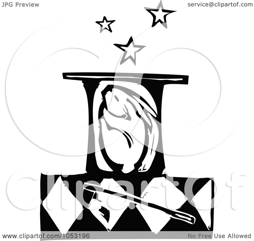 Magic Clip Art Black And White Royalty-free vector clipart