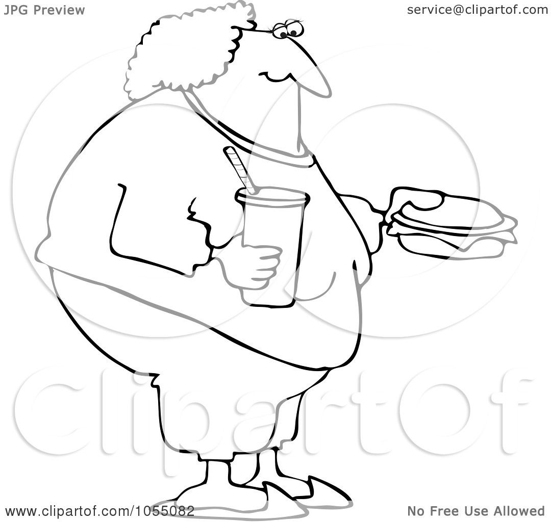 old fat woman coloring page coloring pages